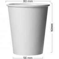 Pahar alb din carton 250ml(8OZ)