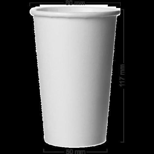 Pahar alb din carton 300-330ml (12ozV)