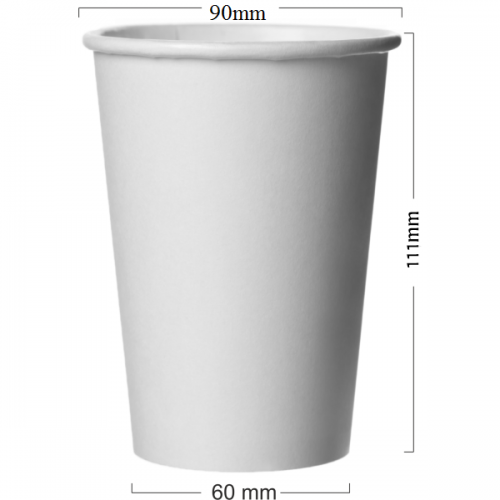 Pahar alb din carton 350 ml (12OZ)