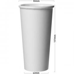 Pahar alb din carton 500ml (22oz) ALB