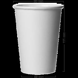 Pahar alb din carton 380ml (14oz)
