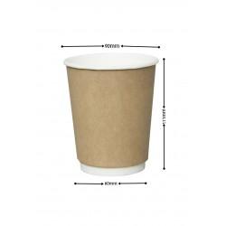 Pahar cu perete dublu 12OZ (350ML) KRAFT