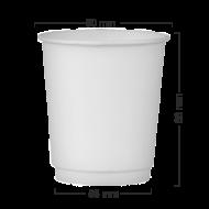 Pahar alb 8OZ din carton perete dublu (250ML)