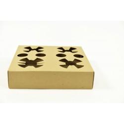 Suport pahare x4 din carton kraft